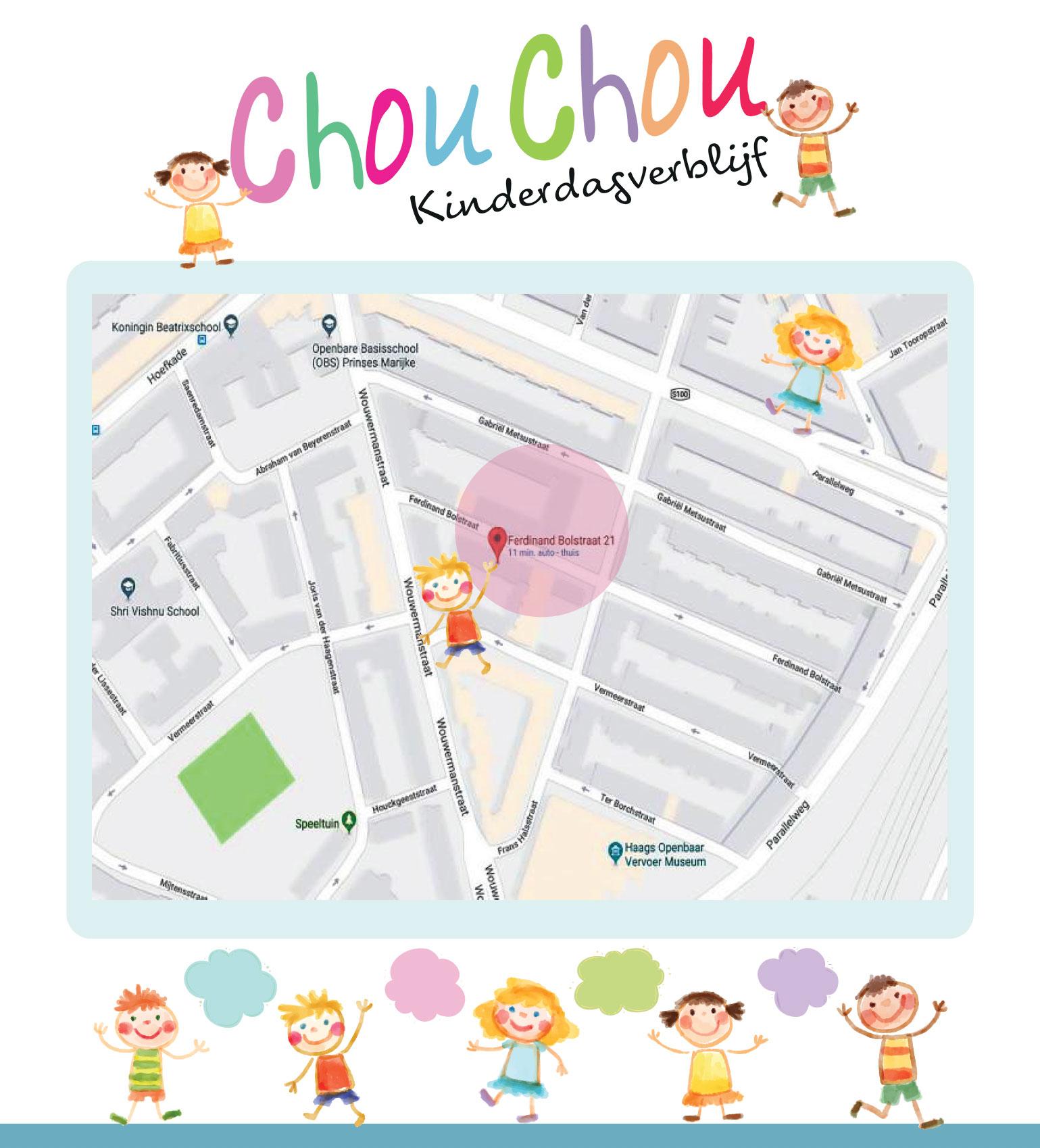 Chou Chou op de kaart NL