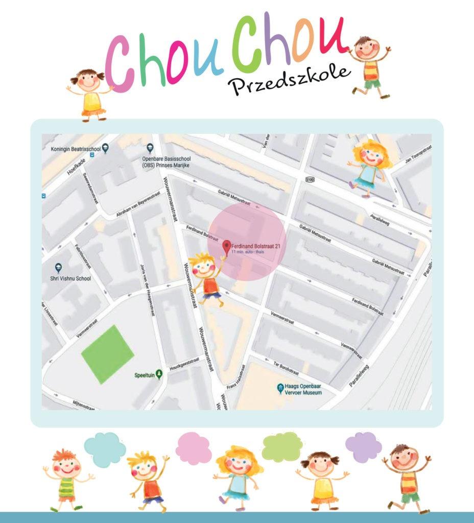 Chou Chou op de kaart P